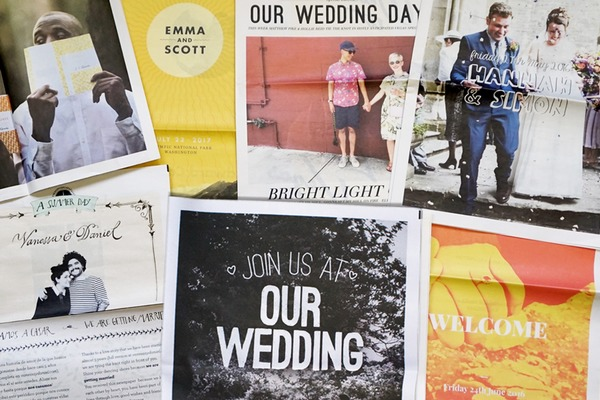 12 Ideas for Creative Wedding Newspapers