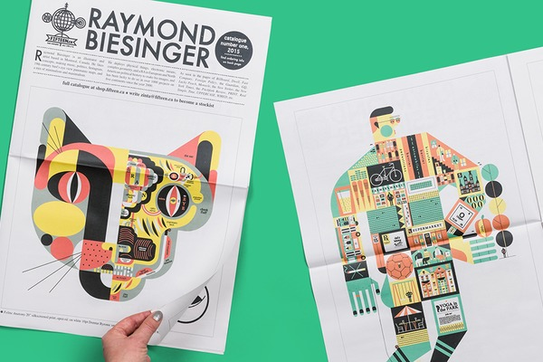 Interview with illustrator Raymond Biesinger. Print your own newspaper portfolio.