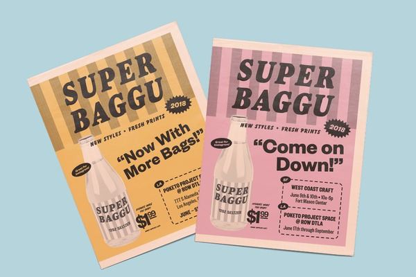 How a vintage grocery circular inspired Baggu's retro newspaper design