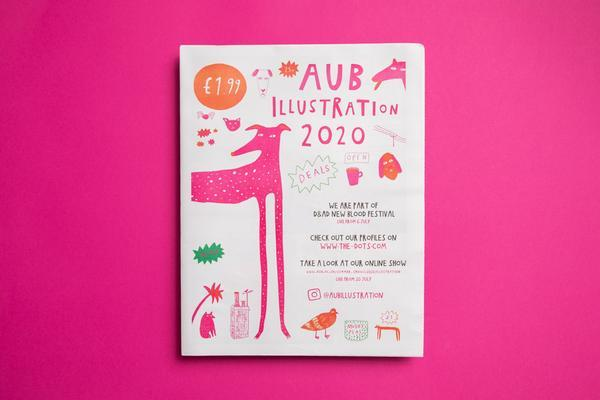 AUB Illustration 2020 graduate catalogue, printed by Newspaper Club.