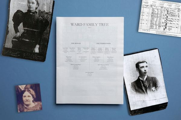 How to make a family tree newspaper in Microsoft Word