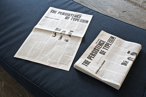 Persistence of Type Broadsheet Newspaper Glasgow International