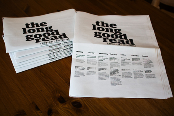The Long Good Read, Weekly Paper